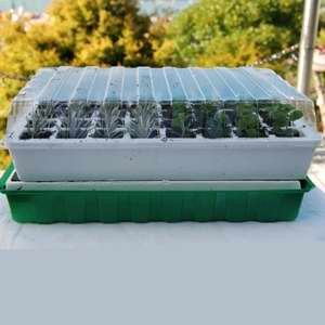 Self Watering Propagator - Please Note: Clear plastic cover is under bottom base tray!