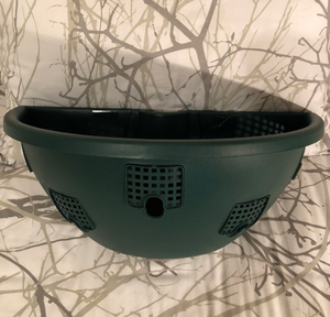 Wall Basket 45cm Green [Half round]